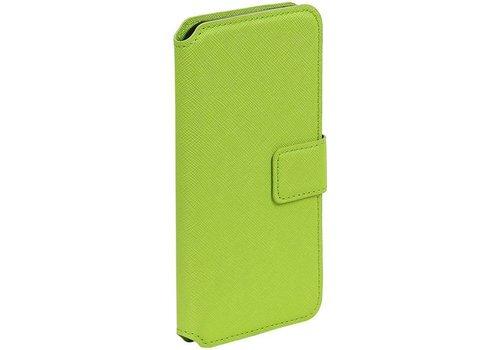 Cross Pattern TPU Bookstyle voor iPhone 6/6s Groen