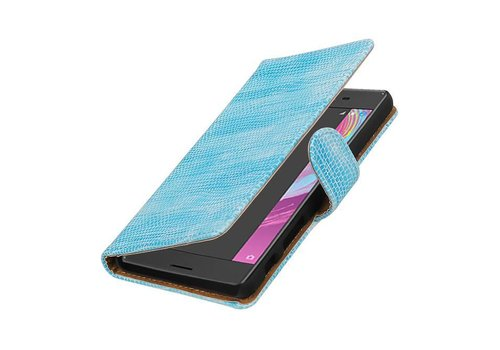 Lizard Bookstyle Hoes voor Sony Xperia X Performance Turquoe