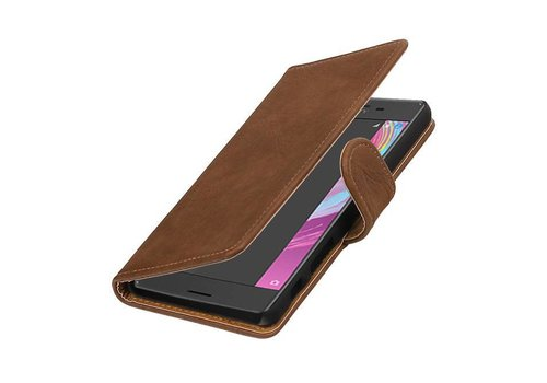 Bark Bookstyle Hoes voor Sony Xperia X Performance Bruin