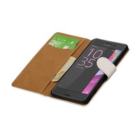 Croco Bookstyle Hoes voor Sony Xperia X Performance Wit