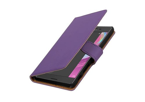 Bookstyle Hoes voor Sony Xperia X Performance Paars