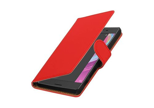 Bookstyle Hoes voor Sony Xperia X Performance Rood