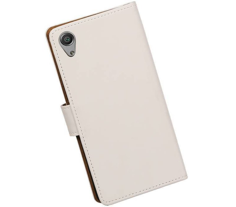 Bookstyle Hoes voor Sony Xperia X Performance Wit