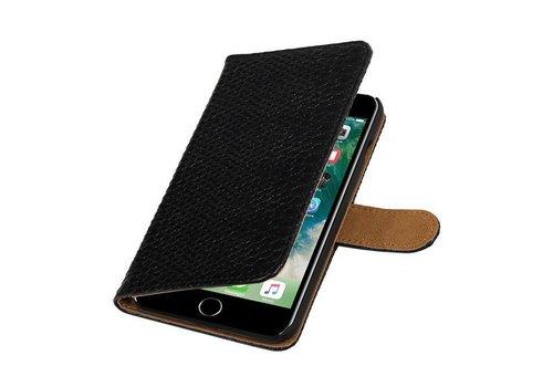 Snake Bookstyle Hoes voor iPhone 7 Plus Zwart