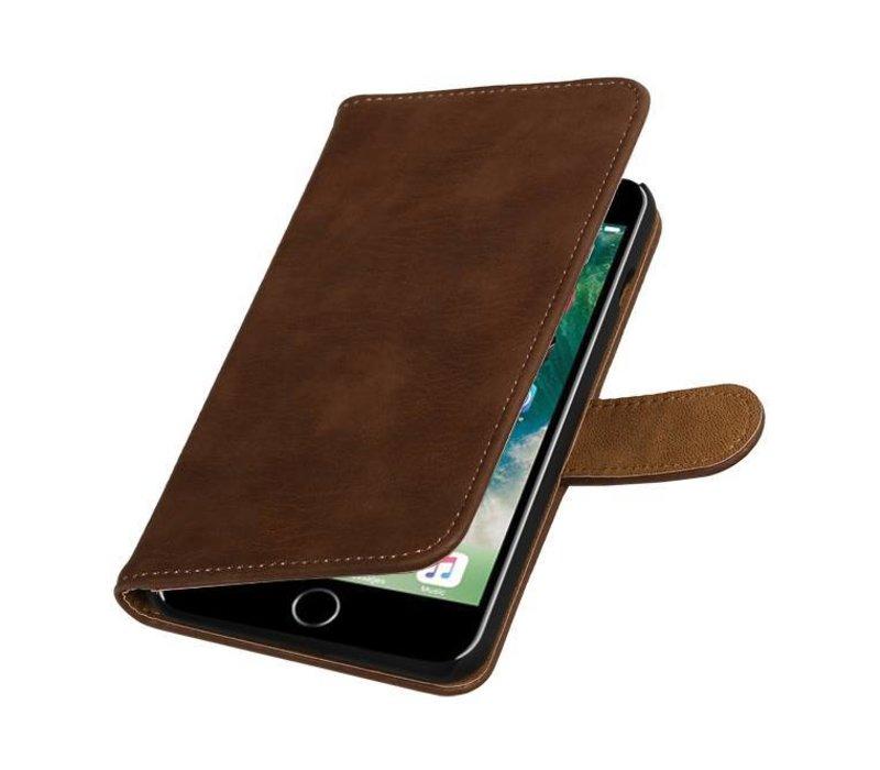 Bark Bookstyle Hoes voor iPhone 7 Plus Bruin