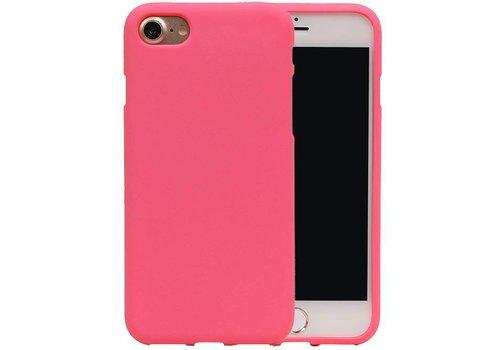 Sand Look TPU Hoesje voor iPhone 7 Roze