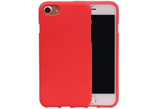 Sand Look TPU Hoesje voor iPhone 7 Rood