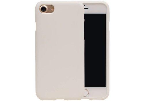 Sand Look TPU Hoesje voor iPhone 7 Wit