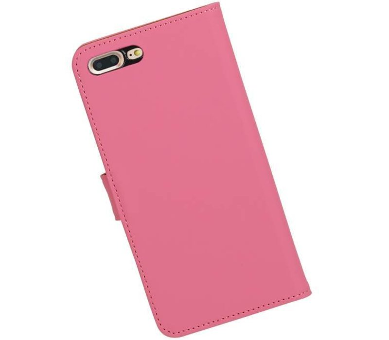 Bookstyle Hoes voor iPhone 7 Plus Roze