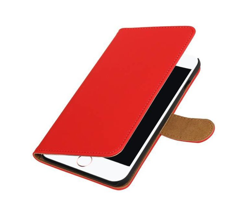 Bookstyle Hoes voor iPhone 7 Plus Rood