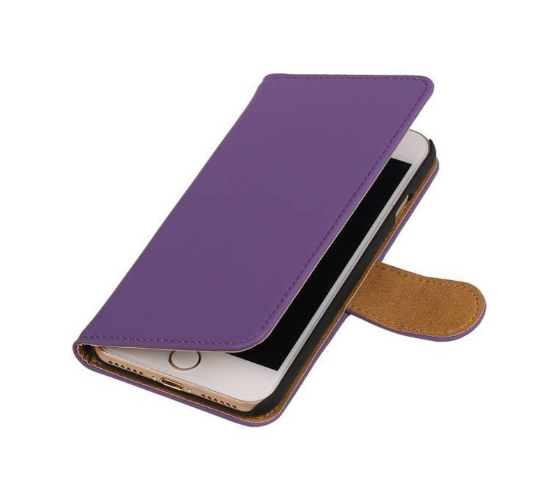 Bookstyle Hoes voor iPhone 7 Paars