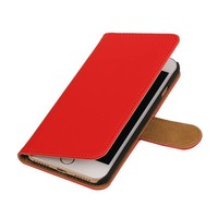Bookstyle Hoes voor iPhone 7 Rood
