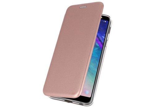 Slim Folio Case voor Galaxy A6 Plus 2018 Roze