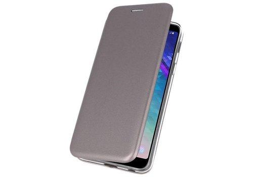 Slim Folio Case voor Galaxy A6 Plus 2018 Grijs
