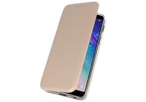 Slim Folio Case voor Galaxy A6 Plus 2018 Goud