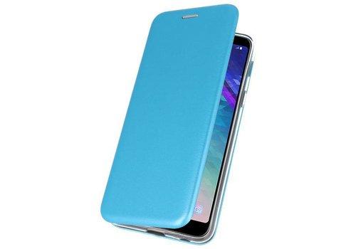 Slim Folio Case voor Galaxy A6 Plus 2018 Blauw