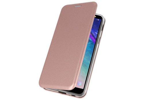 Slim Folio Case voor Galaxy A6 2018 Roze