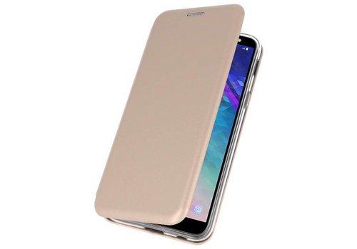 Slim Folio Case voor Galaxy A6 2018 Goud