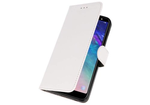 Bookstyle Wallet Cases Hoesje voor Galaxy A6 Plus 2018 Wit