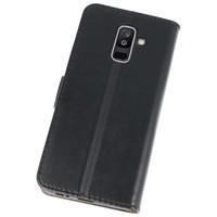 Bookstyle Wallet Cases Hoesje voor Galaxy A6 Plus 2018 Zwart