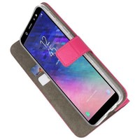 Bookstyle Wallet Cases Hoesje voor Galaxy A6 2018 Roze