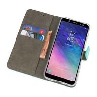 Bookstyle Wallet Cases Hoesje voor Galaxy A6 2018 Groen