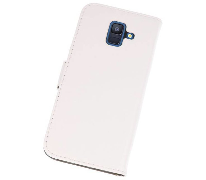 Bookstyle Wallet Cases Hoesje voor Galaxy A6 2018 Wit