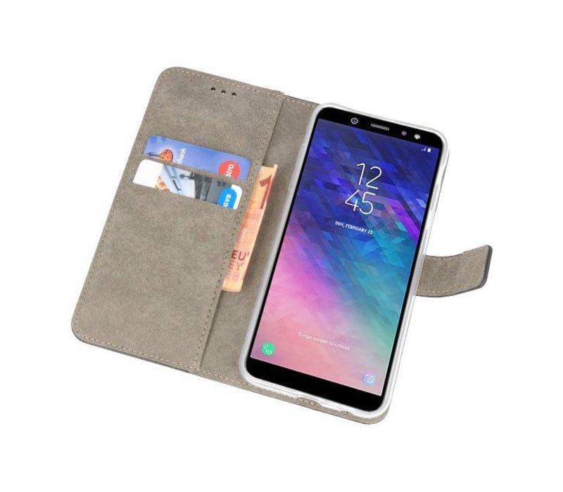 Bookstyle Wallet Cases Hoesje voor Galaxy A6 2018 Zwart