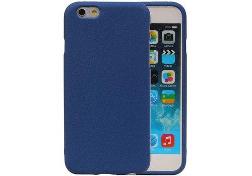 Sand Look TPU Hoesje voor iPhone 6 / 6s Blauw