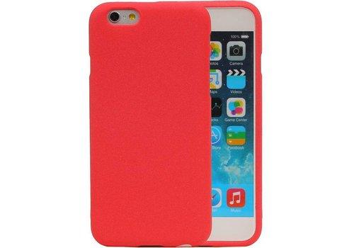 Sand Look TPU Hoesje voor iPhone 6 / 6s Rood