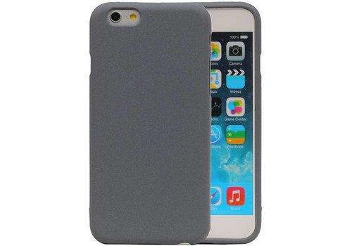 Sand Look TPU Hoesje voor iPhone 6 / 6s Grijs