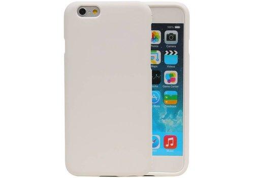 Sand Look TPU Hoesje voor iPhone 6 / 6s Wit