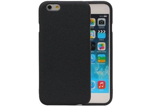 Sand Look TPU Hoesje voor iPhone 6 / 6s Zwart