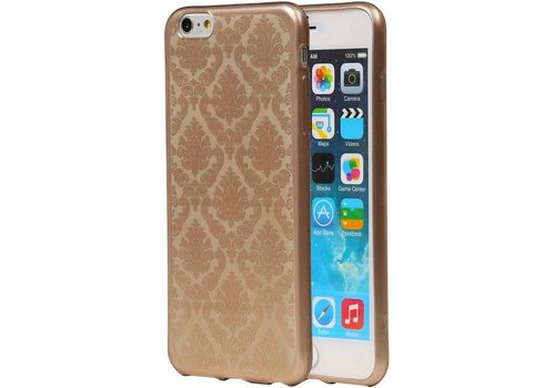 TPU Paleis 3D Back Cover for iPhone 6 Plus Goud