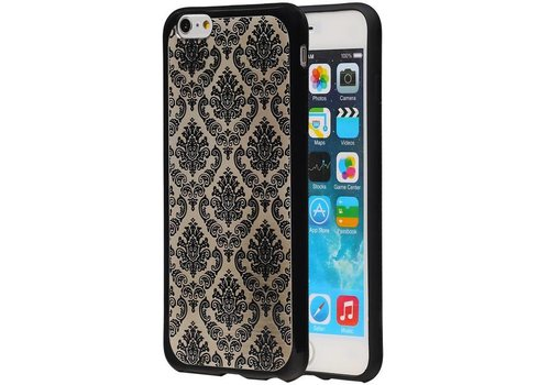 TPU Paleis 3D Back Cover for iPhone 6 Plus Zwart