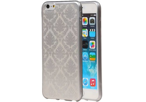 TPU Paleis 3D Back Cover for iPhone 6 Zilver