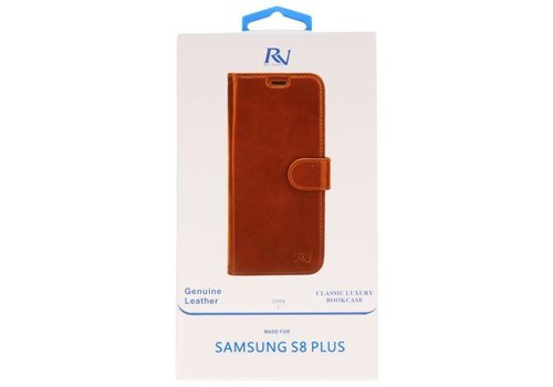 Rico Vitello Bruin Echt Leder Hoesje Galaxy S8 Plus