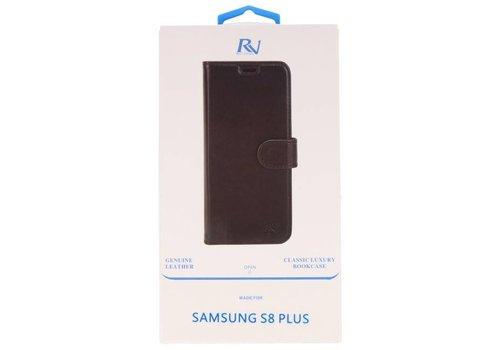 Rico Vitello Zwart Echt Leder Hoesje Galaxy S8 Plus