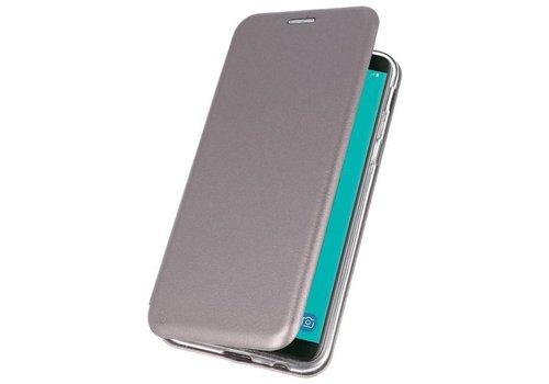 Slim Folio Case voor Galaxy J6 2018 Grijs
