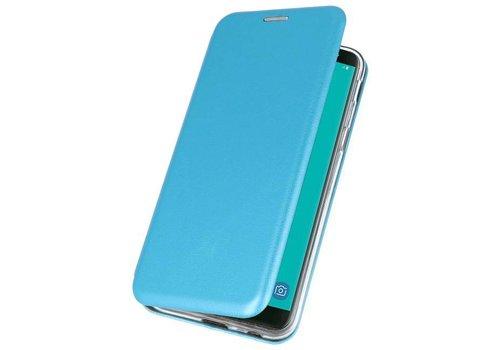 Slim Folio Case voor Galaxy J6 2018 Blauw