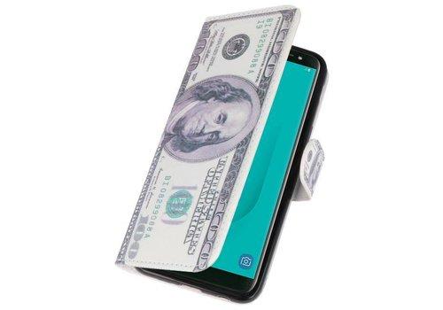 Dollar Bookstyle Hoesje voor Galaxy J6 2018