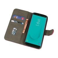 Bookstyle Wallet Cases Hoesje voor Galaxy J6 2018 Roze
