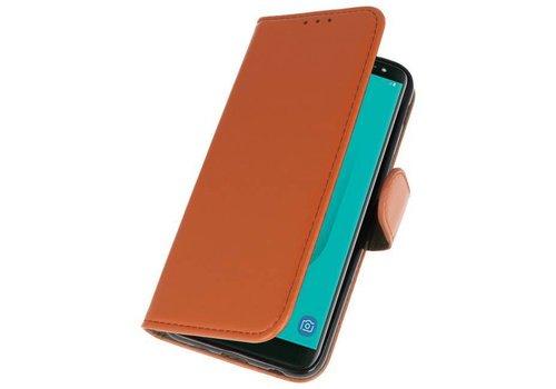 Bookstyle Wallet Cases Hoesje voor Galaxy J6 2018 Bruin