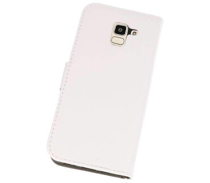Bookstyle Wallet Cases Hoesje voor Galaxy J6 2018 Wit