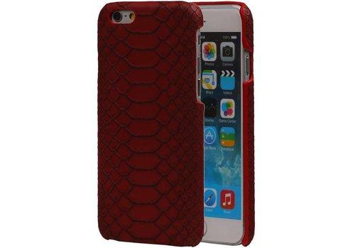 Snake Hardcase voor iPhone 6 Rood