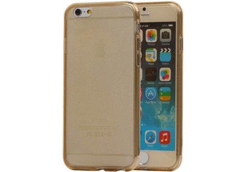 TPU Set Voor en Achter Hoesje voor iPhone 6 Plus Goud