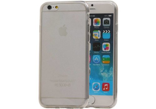 TPU Set Voor en Achter Hoesje voor iPhone 6 Plus Wit