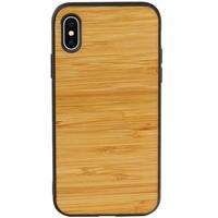 Bamboe Design Hardcase Hoesje voor iPhone X - XS Horizontaal