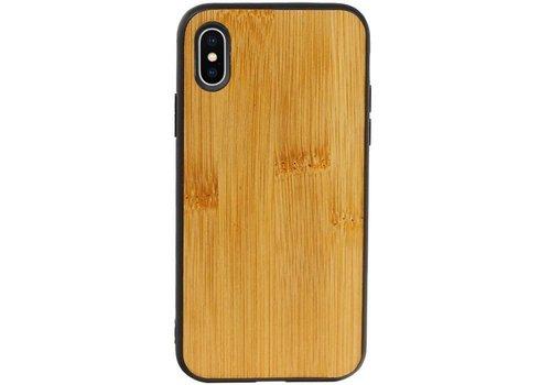 Bamboe Design Hardcase Hoesje voor iPhone X - XS Verticaal 1