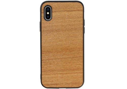 Hout Design Hardcase Hoesje voor iPhone X - XS Horizontaal 2